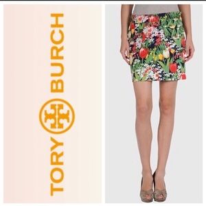 Tory Burch Floral Pocketed 8 Mini Skirt Tulips 🌷